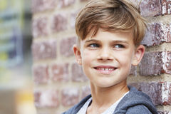 Portrait of a young boy, outside Stock Photography