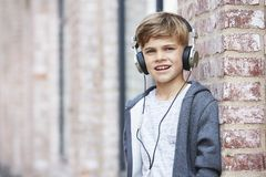 Portrait of a young boy, outside Royalty Free Stock Image