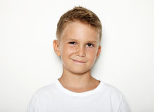 Portrait of young boy showing some emotion Stock Photo