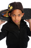 Portrait of Young Boy with Skate Board Royalty Free Stock Photos