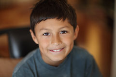 Portrait of young boy smiling Stock Image