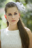 Portrait of young bride Stock Image