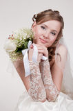 Portrait of the young bride royalty free stock image