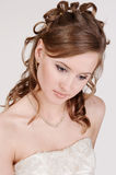 Portrait of the young bride stock image