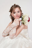 Portrait of the young bride Royalty Free Stock Images