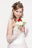 Portrait of the young bride Stock Photos