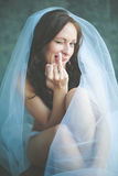 Portrait of young bride Royalty Free Stock Photos