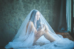 Portrait of young bride Stock Photography