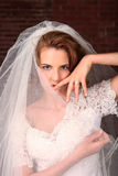 Portrait of a Young Bride Getting Married Stock Photo
