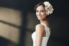 Portrait of a young bride Stock Photography