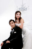 Portrait of young bride and groom Stock Photography