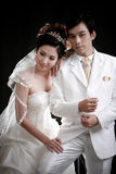 Portrait of young bride and groom Royalty Free Stock Photos