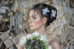 Portrait of a young bride in retro style Stock Photos