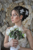 Portrait of a young bride in retro style Royalty Free Stock Photos