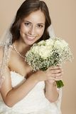 Portrait of a young bride Royalty Free Stock Photos