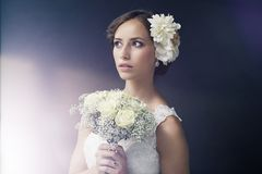 Portrait of a young bride Stock Images