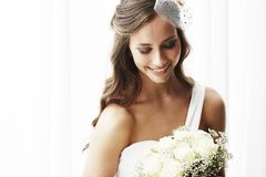 Portrait of a young bride Royalty Free Stock Photo