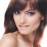Portrait of a young brunette in beautiful makeup Stock Photography