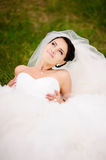 Portrait of young brunette bride Royalty Free Stock Photography