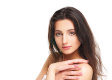 Portrait of a young brunette Caucasian woman Royalty Free Stock Photos