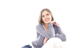 Portrait of a young brunette Caucasian woman Royalty Free Stock Photo