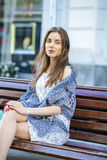Portrait of young brunette woman Royalty Free Stock Photos