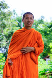 Portrait of Young Buddhist Monk Royalty Free Stock Photos
