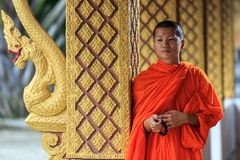 Portrait of a young Buddhist monk Royalty Free Stock Photography