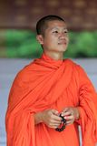 Portrait of a young Buddhist monk Royalty Free Stock Photo