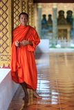 Portrait of a young Buddhist monk Royalty Free Stock Image