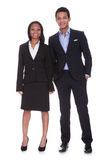 Portrait Young Business Couple Stock Images