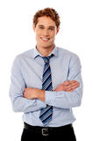 Portrait of young business executive Stock Image