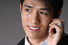 Portrait of young business man Stock Photos