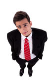 Portrait of a young business man view from above Stock Photos
