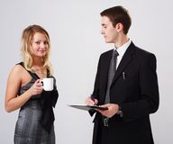 Portrait of young business people Stock Images
