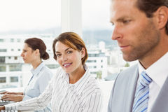Portrait of young business people Stock Image