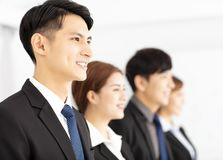 Portrait of young business team in office Stock Images