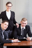 Portrait of a young business team Stock Photos