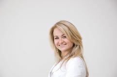 Portrait of a young business woman. Portrait of a young attractive business woman Royalty Free Stock Photo