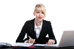 Portrait of the young business woman Royalty Free Stock Photos