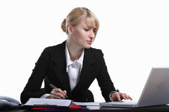 Portrait of the young business woman Stock Images