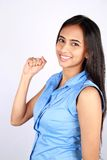 Portrait of a young business woman. Royalty Free Stock Image