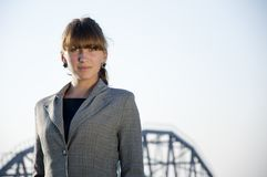 Portrait of young business woman Stock Photography