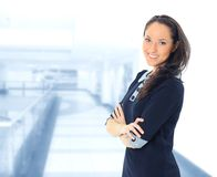 Portrait of a young business woman Stock Images