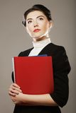 Portrait of young business woman Stock Photos