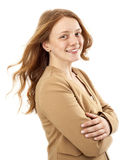Portrait of young business woman with arms crossed Stock Photography