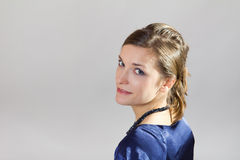 Portrait of young business woman. With classical hairstyle royalty free stock photos