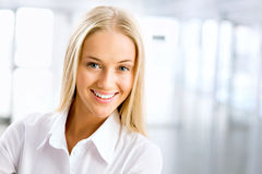 Portrait of young business woman Royalty Free Stock Images