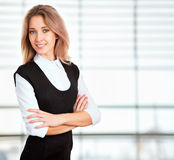 Portrait of young business woman Royalty Free Stock Image