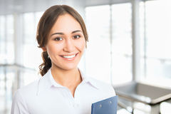 Portrait of young business woman Stock Images